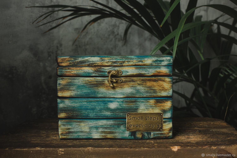 Шкатулка ящик с гравировкой. Сундук старый ящик с обжигом, Ящики, Санкт-Петербург,  Фото №1