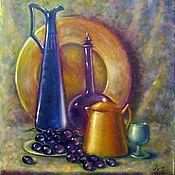 Картины и панно ручной работы. Ярмарка Мастеров - ручная работа Натюрморт с виноградом. Холст, масло. Handmade.