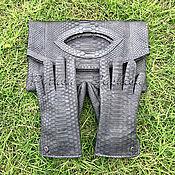 Сумки и аксессуары handmade. Livemaster - original item Autumn set of python. Gloves and a clutch bag.. Handmade.