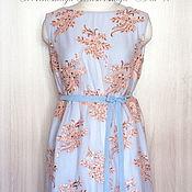 Одежда ручной работы. Ярмарка Мастеров - ручная работа Коктейльное платье с расшитым гипюром. Handmade.