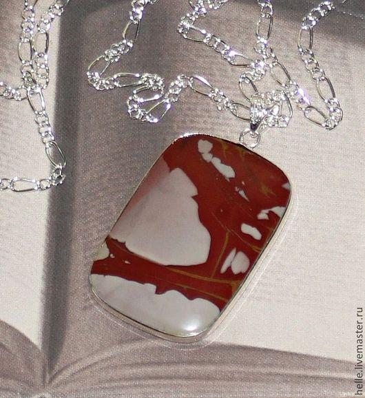 Кулоны, подвески ручной работы. Ярмарка Мастеров - ручная работа. Купить Кулон из яшмы Красная река. Handmade. Бордовый цвет
