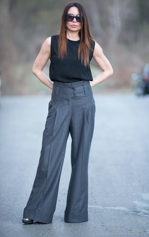 Stylish, gray pants Trouser fabric - PA0740CW, Pants, Sofia,  Фото №1