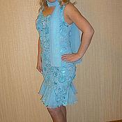 """Одежда ручной работы. Ярмарка Мастеров - ручная работа Платье """"Мой день-Бирюза"""". Handmade."""