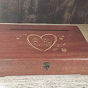 Свадебный салон handmade. Livemaster - original item Box for collecting money 40×27×9 cm. chest for envelopes gift. Handmade.