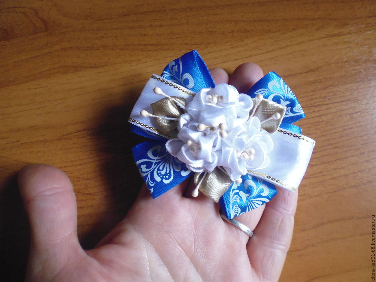 Eraser-Kanzashi on a bunch for beginners