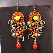 Украшения handmade. Livemaster - original item Earrings Gerbera. Handmade.