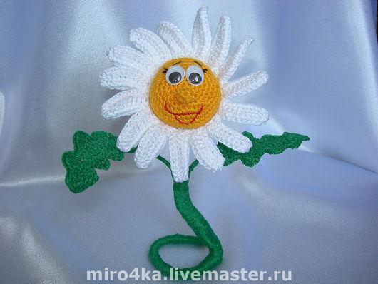 Цветы ручной работы. Ярмарка Мастеров - ручная работа. Купить Ромашка Счастливая,интерьерная. Handmade. Ромашка, ромашки, проволочный каркас