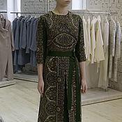 Одежда handmade. Livemaster - original item Dress of wool pavlovoposadskaja a headscarf in the Russian style. Handmade.
