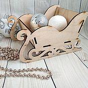 Материалы для творчества handmade. Livemaster - original item Sleigh Christmas. Handmade.