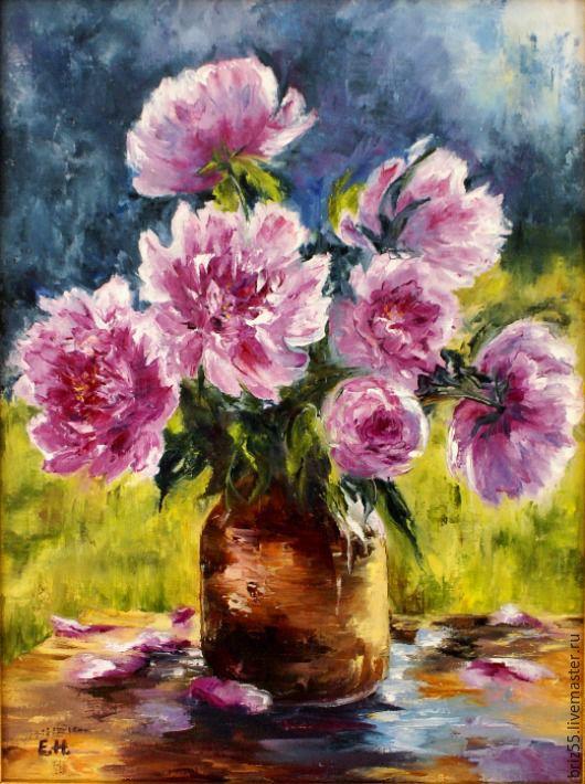 Oil painting Bouquet of peonies, Pictures, Zelenograd,  Фото №1