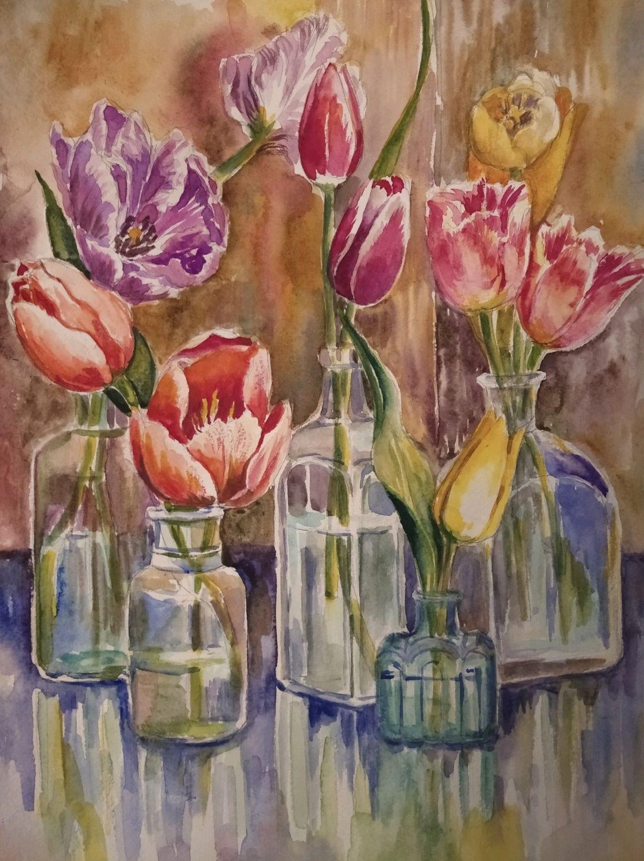 """""""Весна. Тюльпаны"""", Иллюстрации, Москва,  Фото №1"""
