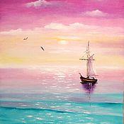 Картины и панно ручной работы. Ярмарка Мастеров - ручная работа Картина маслом Море счастья. Handmade.