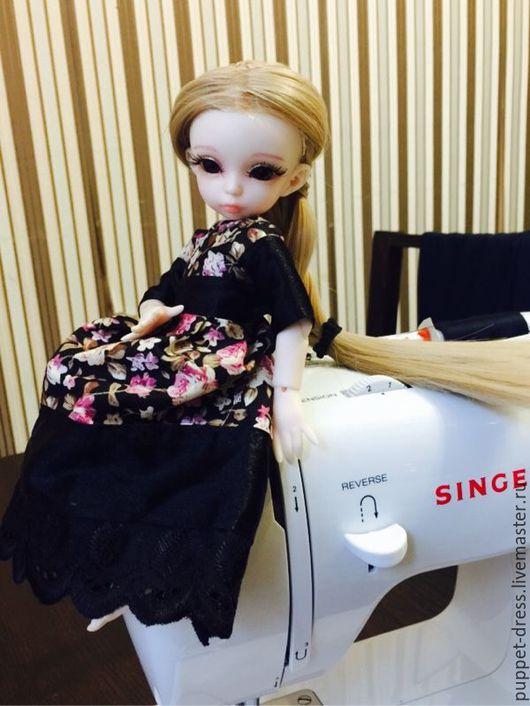 Одежда для кукол ручной работы. Ярмарка Мастеров - ручная работа. Купить платье на bjd 25 см. Handmade. Платье нарядное