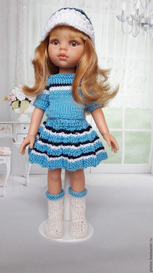 """Одежда для кукол ручной работы. Ярмарка Мастеров - ручная работа. Купить Нежный комплект """"Незабудка""""  для  Paola Reina.. Handmade. Голубой"""