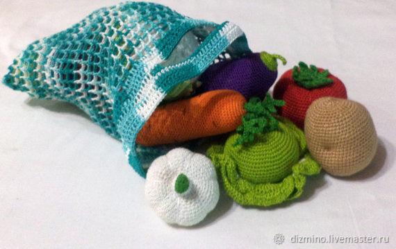 Вязаные крючком фрукты овощи, Кукольная еда, Яр,  Фото №1