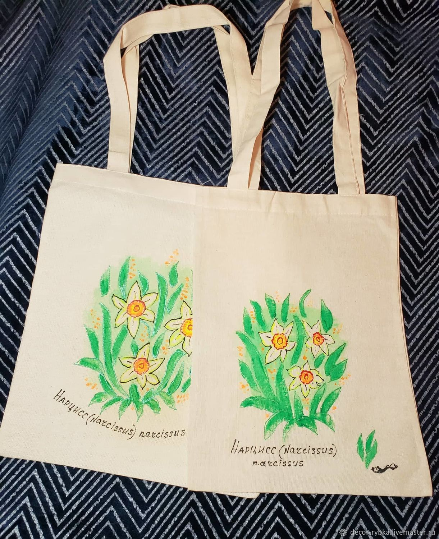Экосумка,комплект из 2-х сумок с росписью акрилом