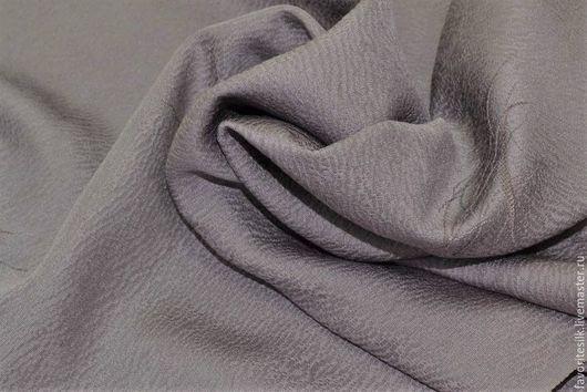 Шитье ручной работы. Ярмарка Мастеров - ручная работа. Купить Шёлк натуральный серо-лиловый узор (Япония). Handmade. серый