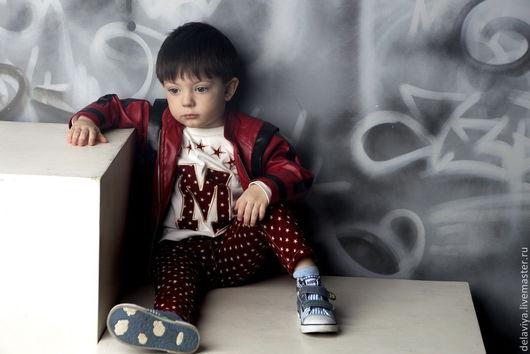 """Одежда для мальчиков, ручной работы. Ярмарка Мастеров - ручная работа. Купить Куртка кожанная """"Майкл"""" от Делавьи. Handmade. Бордовый"""