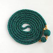 Украшения handmade. Livemaster - original item Lariat beaded emerald. Handmade.
