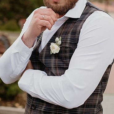 Одежда ручной работы. Ярмарка Мастеров - ручная работа Жилеты: Мужской жилет из костюмной ткани на подкладе. Handmade.