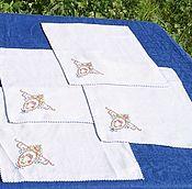 Винтаж handmade. Livemaster - original item Vintage napkins with embroidery. Handmade.