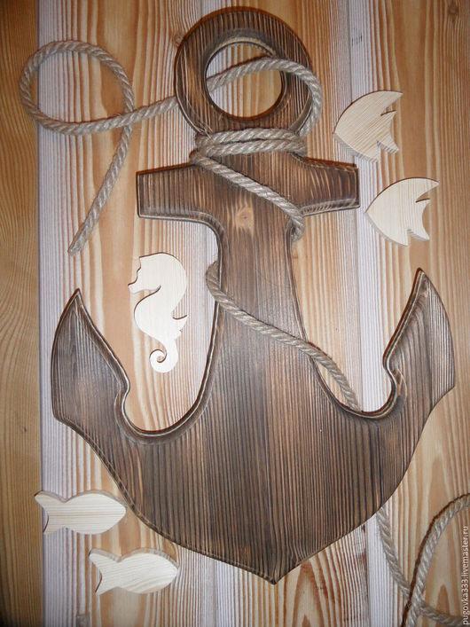 Детская ручной работы. Ярмарка Мастеров - ручная работа. Купить Якорь.. Handmade. Белый, дерево, фотосессия, детская комната, штурвал