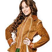 Одежда ручной работы. Ярмарка Мастеров - ручная работа Замшевая куртка рыжая. Handmade.
