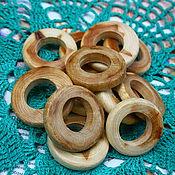 Материалы для творчества ручной работы. Ярмарка Мастеров - ручная работа кольца можжевеловые плоские. Handmade.