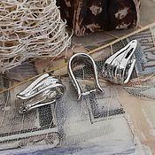 Материалы для творчества handmade. Livemaster - original item Bale clamp 13x6 mm platinum (3528). Handmade.