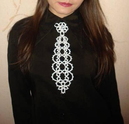 Галстуки, бабочки ручной работы. Ярмарка Мастеров - ручная работа. Купить Белый кружевной галстук. Handmade. Галстук, женский галстук