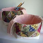 Для дома и интерьера ручной работы. Ярмарка Мастеров - ручная работа Лукошкo текстильное. Handmade.