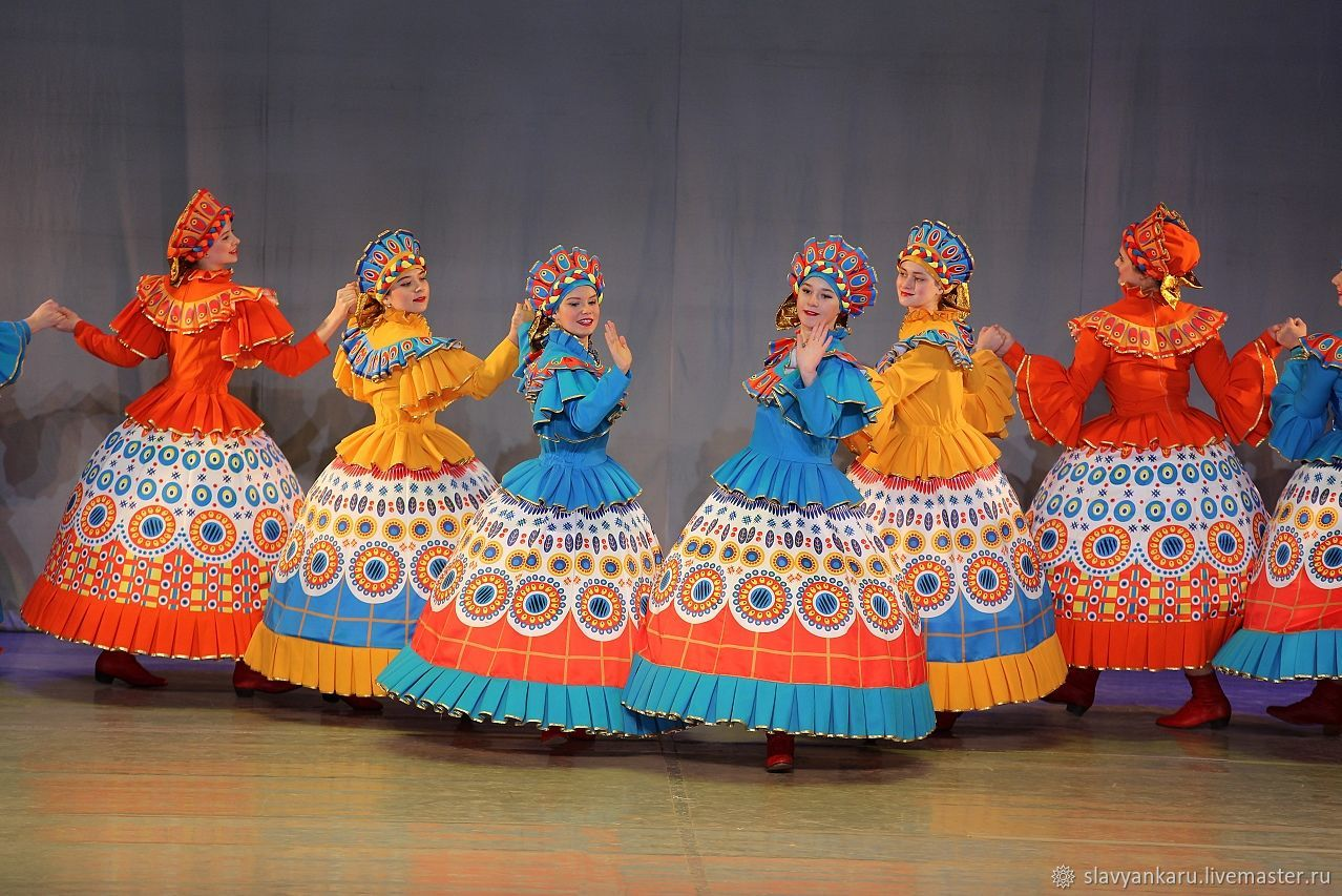 костюмы для русских народных танцев фото большей