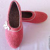 Обувь ручной работы. Ярмарка Мастеров - ручная работа Женские валяные тапочки. Handmade.