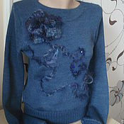 """Одежда ручной работы. Ярмарка Мастеров - ручная работа Свитер """"Королевский синий"""". Handmade."""