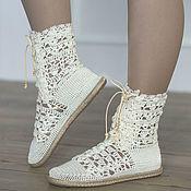"""Обувь ручной работы handmade. Livemaster - original item Summer shoes  """" Eugene"""". Handmade."""