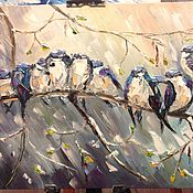 Картины и панно ручной работы. Ярмарка Мастеров - ручная работа Весенние нотки. Handmade.