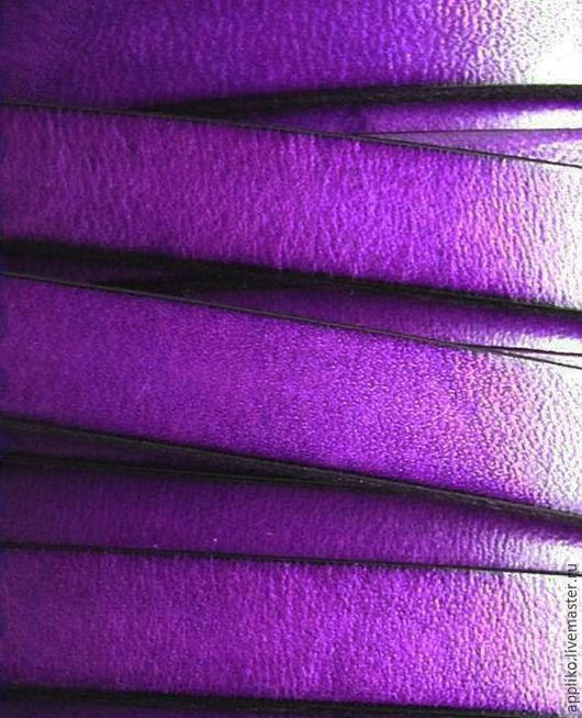 Для украшений ручной работы. Ярмарка Мастеров - ручная работа. Купить КОЖАНЫЙ ШНУР  10х2мм. ФИОЛЕТОВЫЙ. Handmade. Кожаный шнур