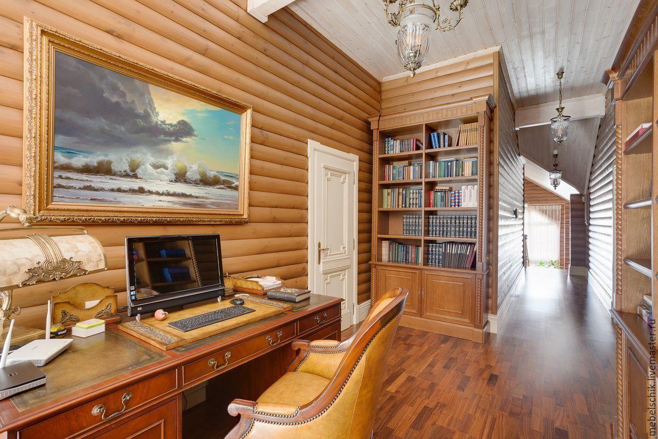 стол письменный, мебель для кабинета из дерева, шкаф, кресло, дверь из дерева на заказ