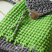 """Скидки!!! Рюкзак """"Лето""""  цвет свежая зелень. Вязаный рюкзак"""