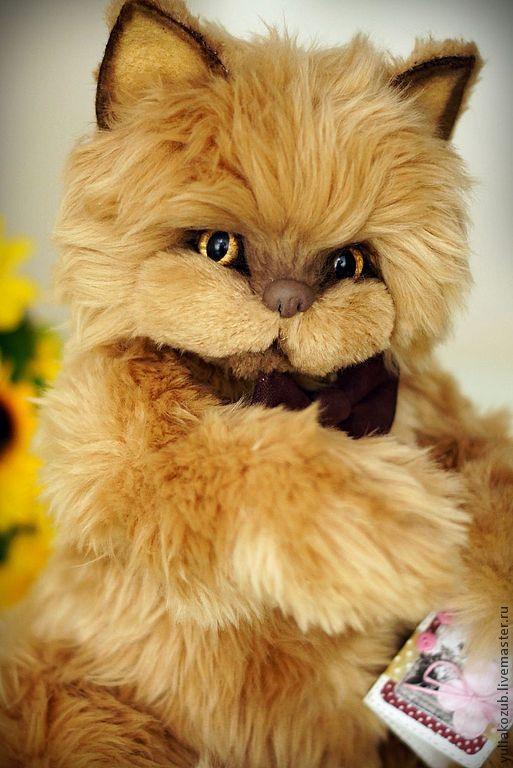 Мишки Тедди ручной работы. Ярмарка Мастеров - ручная работа. Купить Котяра..... Handmade. Коричневый, кошка игрушка