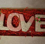 """Пряники ручной работы. Ярмарка Мастеров - ручная работа Имбирные пряники """"Love"""". Handmade."""