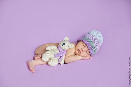 Для новорожденных, ручной работы. Ярмарка Мастеров - ручная работа. Купить Вязаная шапка-носок для фотосессии новорожденных. Handmade. В полоску