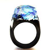 Украшения handmade. Livemaster - original item Wooden ring Northern lights. Handmade.