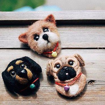 Украшения ручной работы. Ярмарка Мастеров - ручная работа Брошь собака. Handmade.