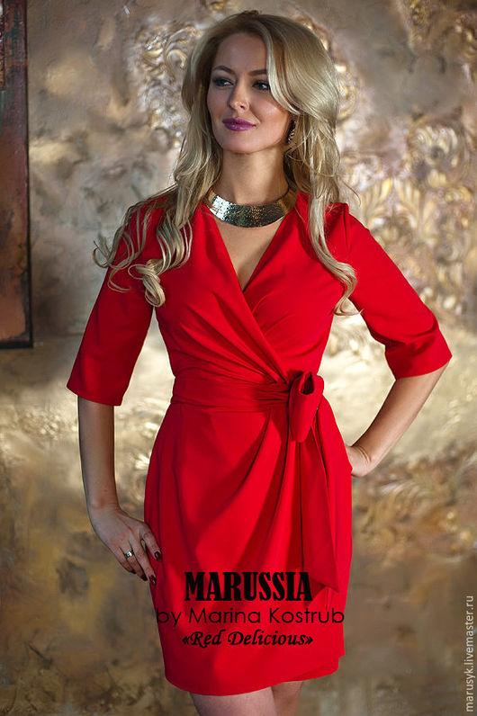 Платья ручной работы. Ярмарка Мастеров - ручная работа. Купить Платье РД-55. Handmade. Ярко-красный, Платье нарядное