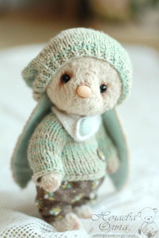 Мишки Тедди ручной работы. Ярмарка Мастеров - ручная работа. Купить Амели 16 см.. Handmade. Бежевый, зайка игрушка