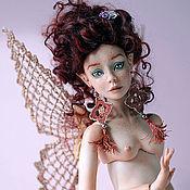 Куклы и игрушки ручной работы. Ярмарка Мастеров - ручная работа Психея фарфоровая бабочка. Handmade.