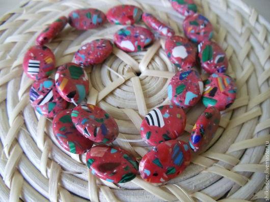 Для украшений ручной работы. Ярмарка Мастеров - ручная работа. Купить Овальные бусины из натурального камня. Handmade. Разноцветный