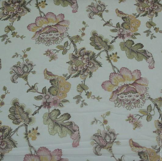 Вуаль для штор с узором в виде цветков. Ширина ткани (высота ткани) составляет - 260 см