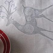 """Для дома и интерьера ручной работы. Ярмарка Мастеров - ручная работа Скатерть """"Страна Оления""""-1 скатерть скатерть  новогодняя скатерть. Handmade."""